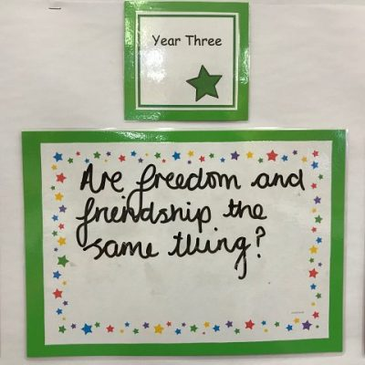 Year 3 - Are freedom and friendship the same thing?