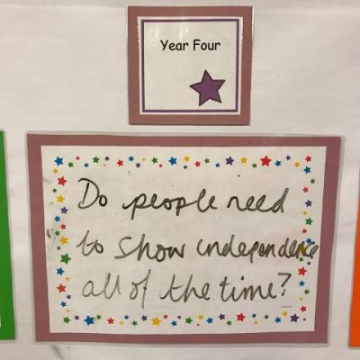 Year 4 - Do people need to show independence all of the time?