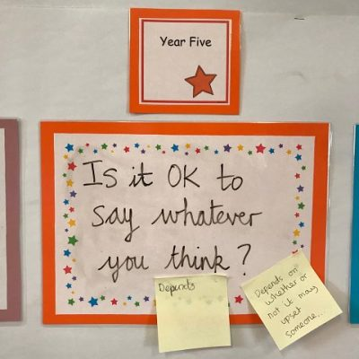 Year 5 - Is it ok to say whatever you think?