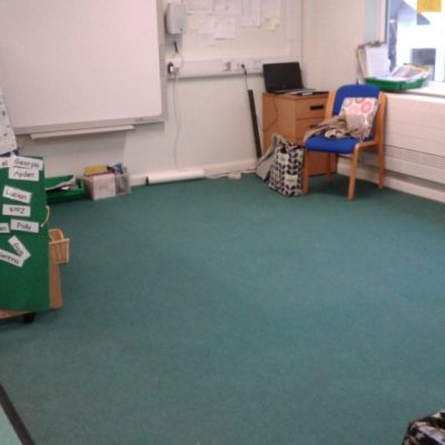 Our carpet area - we listen to stories together here